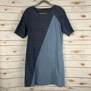 Kate Spade Saturday Dress Sz 10  Blue Short Sleeve
